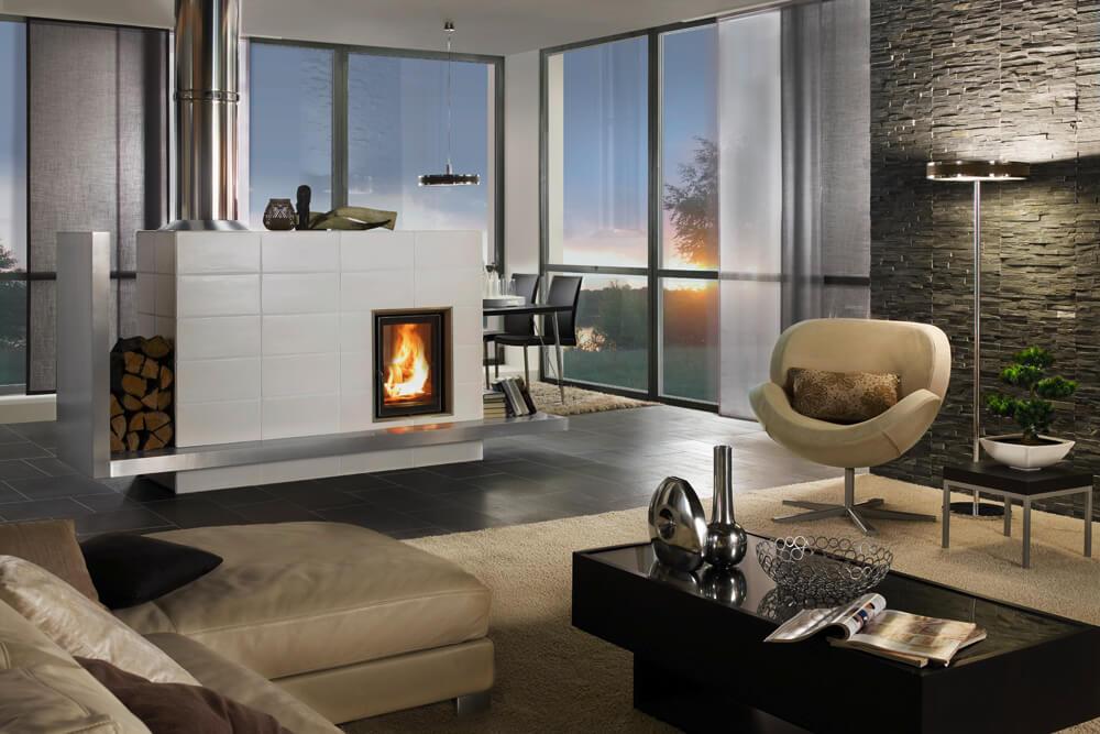 Kachelofen Wohnzimmer modern